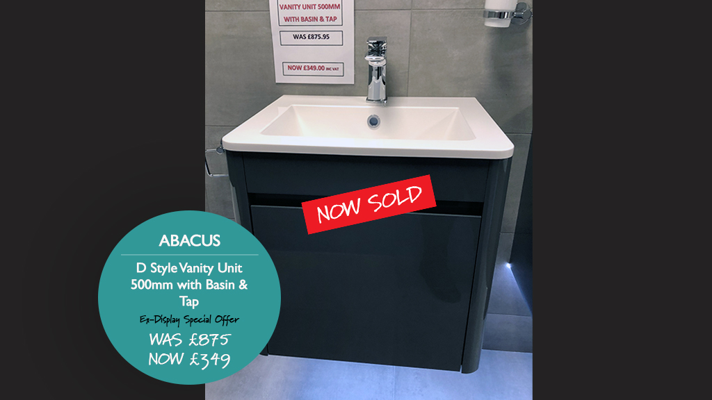 Abacus D style unit 500mm now sold