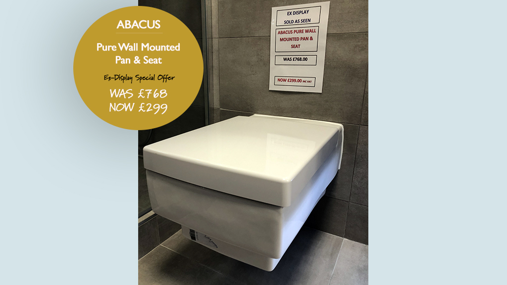 Abacus Pure Wall Mounted Pan and Seat