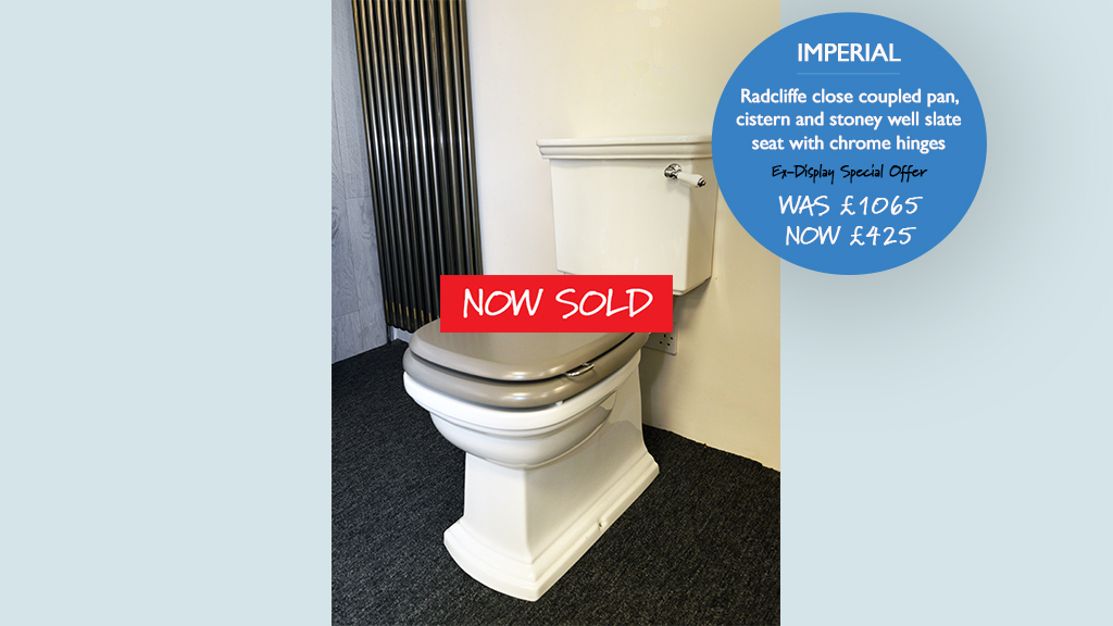 Imperial Radcliffe close coupled pan now sold