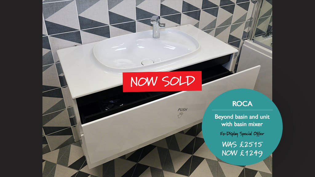 Roca Beyond basin and unit with basin mixer. Now Sold.